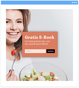 Enormail opt-in landingspagina